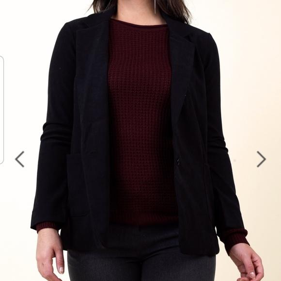 FAVLUX Jackets & Blazers - Black long blazer size medium
